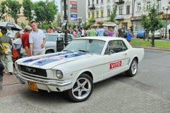 Demostración de coches de la vendimia Imagen de archivo libre de regalías
