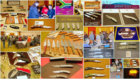 Demostración de encargo 2015 del cuchillo en Jersey City los E.E.U.U. Foto de archivo libre de regalías