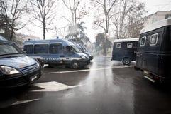 Demostración de estudiante en Milano el 22 de diciembre de 2010 Fotos de archivo