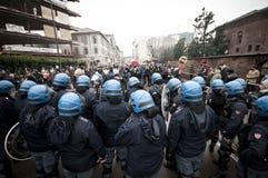 Demostración de estudiante en Milano el 22 de diciembre de 2010 Fotografía de archivo libre de regalías