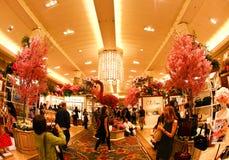 Demostración de flor de Macy en NYC Imagen de archivo libre de regalías