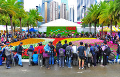 Demostración de flor del int'l de Hong-Kong 2012 Fotografía de archivo libre de regalías