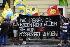 Demostración de ISIS contra terrorismo en Iraq Imágenes de archivo libres de regalías