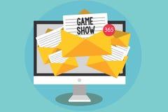 Demostración de juego del texto de la escritura Programa del significado del concepto en la televisión o la radio con los jugador libre illustration