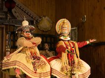 Demostración de Katakali en la India Imagen de archivo