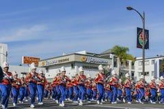 Demostración de la banda escolar de Los Ángeles del torneo magnífico del th Fotos de archivo