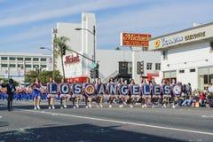 Demostración de la banda escolar de Los Ángeles del torneo magnífico del th Imagen de archivo
