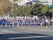Demostración de la banda escolar de Los Ángeles del torneo magnífico del th Foto de archivo libre de regalías
