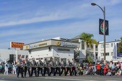 Demostración de la banda escolar de San Diego del torneo magnífico del Imagenes de archivo