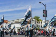 Demostración de la banda escolar de San Diego del torneo magnífico del Imágenes de archivo libres de regalías