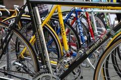 Demostración de la bicicleta del vintage Fotografía de archivo libre de regalías