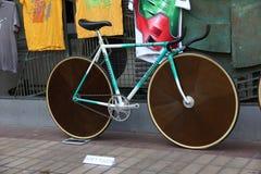Demostración de la bicicleta del vintage Imagenes de archivo