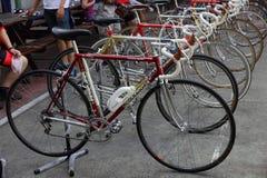 Demostración de la bicicleta del vintage Foto de archivo libre de regalías