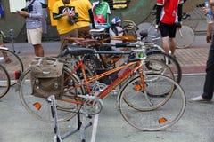 Demostración de la bicicleta del vintage Foto de archivo