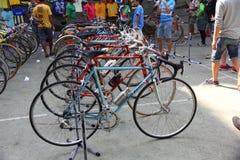 Demostración de la bicicleta del vintage Imagen de archivo libre de regalías