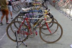 Demostración de la bicicleta del vintage Fotos de archivo