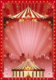 Demostración de la ciudad del circo de la Navidad del cartel Foto de archivo libre de regalías