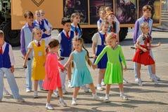 Demostración de la danza en juegos del ejército Tyumen Rusia Fotos de archivo
