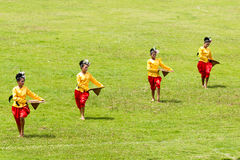 Demostración de la danza en Tailandia Fotos de archivo