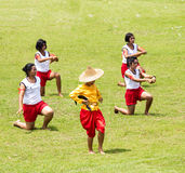 Demostración de la danza en Tailandia Foto de archivo libre de regalías