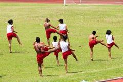 Demostración de la danza en Tailandia Foto de archivo