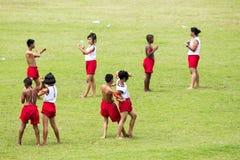Demostración de la danza en Tailandia Imagenes de archivo