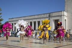 Demostración de la danza popular Foto de archivo