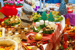 Demostración de la decoración de la Navidad Fotos de archivo