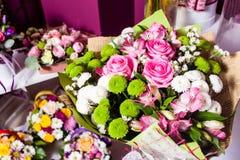 Demostración de la floristería Fotos de archivo libres de regalías