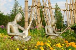 Demostración de la imagen del músico en el jardín público de ChiangMai. Foto de archivo