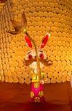 Demostración de la linterna del año del conejo Fotografía de archivo libre de regalías