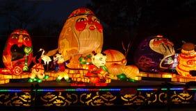 Demostración de la linterna en Chengdu, China Fotos de archivo