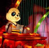 Demostración de la linterna en Chengdu, China Imagen de archivo libre de regalías