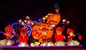 Demostración de la linterna en Chengdu, China Foto de archivo