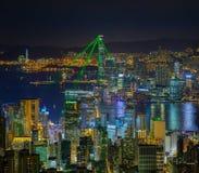 Demostración de la luz de Hong-Kong Imágenes de archivo libres de regalías
