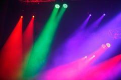 Demostración de la luz del concierto fotografía de archivo libre de regalías