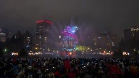 Demostración de la luz del dragón del Año Nuevo Fotos de archivo