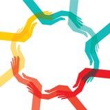 Demostración de la mano el vector común de reciclaje libre illustration