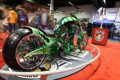 Demostración de la motocicleta Fotografía de archivo