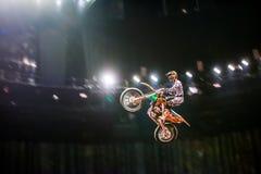 Demostración de la motocicleta Foto de archivo libre de regalías