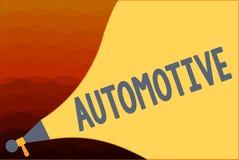 Demostración de la muestra del texto automotriz Relacionado automotor de la foto conceptual a los automóviles de los coches del m ilustración del vector