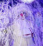 Demostración de la Navidad el muñeco de nieve de las muñecas que vagan del teatro de señor Pezho en el hotel magnífico Astoria Imágenes de archivo libres de regalías