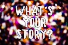 Demostración de la nota de la escritura cuál es su pregunta de la historia Foto del negocio que muestra pidiendo que alguien me d imágenes de archivo libres de regalías