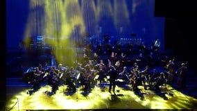 Demostración de la orquesta sinfónica almacen de metraje de vídeo