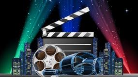 Demostración de la premier de la película ilustración del vector