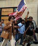 Demostración de la reforma de inmigración Foto de archivo libre de regalías