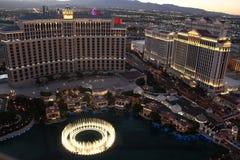 Demostración de las fuentes de Bellagio, Las Vegas Nevada Amewrica Imágenes de archivo libres de regalías