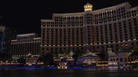 Demostración de las fuentes en Las Vegas Hotel de Bellagio metrajes