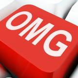 Demostración de las llaves de Omg oh mi dios o chocado Fotos de archivo libres de regalías