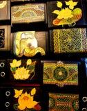 Demostración de los elefantes del arte en festival imagen de archivo libre de regalías